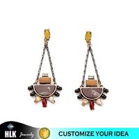 antique reproduction Design Your Own Jewelry Synthetic Gemstone Dangle Earrings