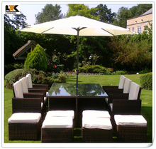 6 -12 seater rattan cube garden set dining table and chair poly rattan cube furniture