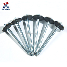 Twisted Shank Umbrella Head Galvanized Roofing Nails With Rubber Washer