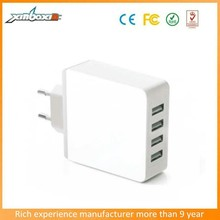 Alibaba EU UK EU Plugs Plug 4 Slot Factory Price Replacement Mobile Phone Charger 4 Port Usb Travel Charger