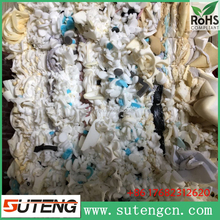 2017cheap wholesale A Grade multi-colored polyurethane foam scrap in bales