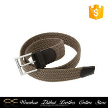 Newest selling trendy style fashion casual mens elastic stretch belts