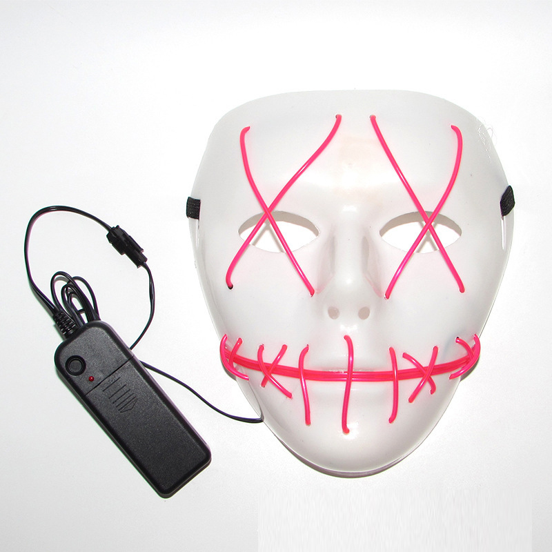 High-grade Carnival decor EL wire Mask Flashing/Steady on LED Neon Mask The Purge Election Years Movie Theme Party Decoration