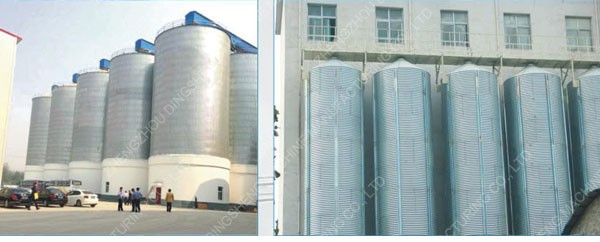 1000T Hot Galvanized Wheat Steel Silo