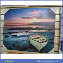 China factory direct sale famous boat and sea paintings with LED light