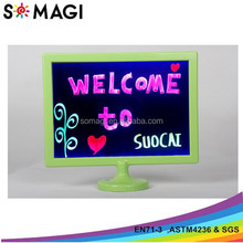 funny neon color diy drawing led dry erase boards for kids