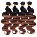 Brazilian Ombre Hair T1b/30 Brazilian Body Wave 4pcs Blonde Brazilian Hair Weave Bundles