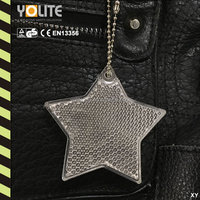 Five Star Shape CE EN13356 Reflective Key Hanger/Hard Reflector
