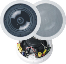 "8"" Public Address System Indoor Coaxial Ceiling Speaker with Fire Dome"