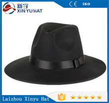 wool felt material jewish black hat mens black fedora