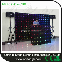 Stage Background Light Decoration led star drop curtain