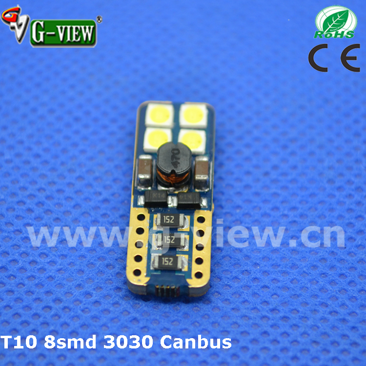 Top Quality best w5w t10 canbus led,10-30V non polarity 194 canbus led ,3030 auto led light