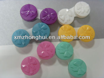 Multi-color cartoon ribbon contact lens case