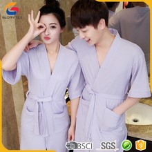 cotton spa robes short bathrobes for women night gowns for men