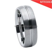 Matte brushed at edges middle shiny grooving ring low cost shenzhen wholesale