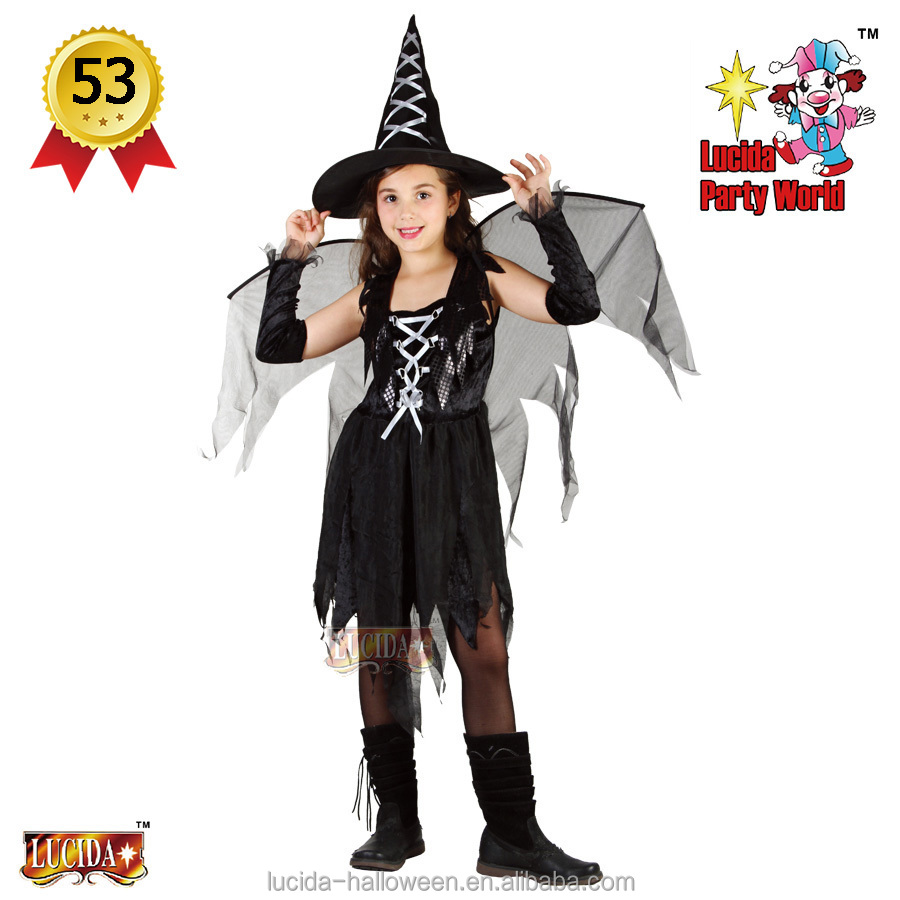 Lucida Halloween costume kid 88773 witch fairy top selling deluxe party costume supplier