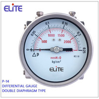 P-14 differntiall pressure gauge with double dialphragm