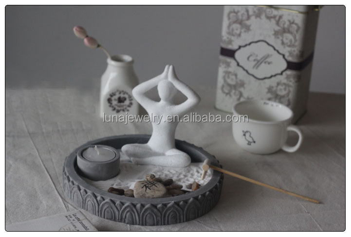 Yoga Figurine Zen Garden Set , Asian japanese zen garden