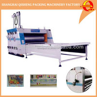 Automatic 4 color corrugated cardboard carton box flexo printing machine