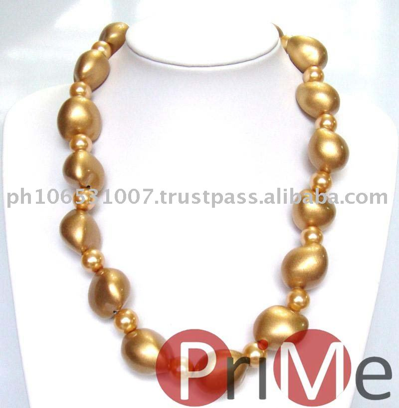 Kukui Choker (Gold) with Beads