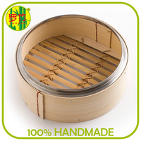 Trade Assurance Portable Round Electric Bamboo Steamer Basket