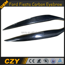 Car Carbon Accessories Car Eyelids Eyebrow For Ford Fiest a 09-12