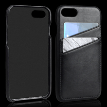 Elegant Mobile Leather Back Cover for iPhone 8 Case with Card Slots