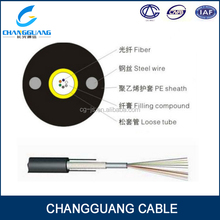 outdoor single loose tube solid core fiber optic cable GYXY