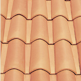 "Spanish, ""Red"", ""Mixed"", roman ceramic roof tile, made of clay"