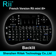 2.4Ghz Rii mini i8+ Wireless French AZERTY Keyboard with TouchPad mouse Backlit gaming Keyboard for HTPC Tablet Mini PC Teclado