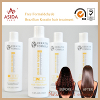New Product Professional Hair straightener treatment Free Formaldehyde Brazilian Keratin for kit
