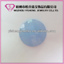 Round flat back Opaque Glass Briolet Checker Cut Gems for clothes