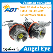 Hot Offer 90W LED Headlight E39 E60 Angel Eyes For BMW E61 E63 E64 E87 E83 E53