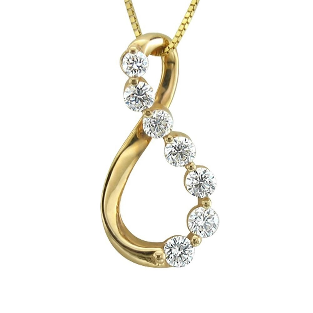 Fashionable gold plated cubic zirconia diamond pendant , women's necklace jewelry