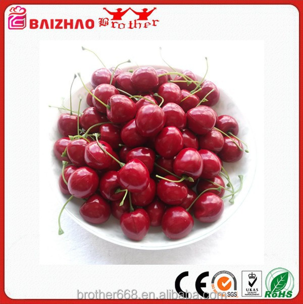 Artificial Plastic Fruit Cherry Shaped Ornaments