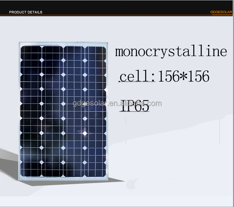 photovoltaic 100 w solar panel charger mono cell