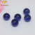 China 2018 charming half drilled ball shape synthetic tanzanite loose glass bead cabochon for necklace