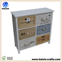 new style wood cabinet six drawers