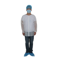 Disposable PP White Lab Coats White