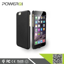 Powerqi i600 Black color protective wireless charging case for iPhone 6 with flexible charging plug