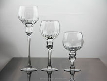 wholesale fashion clear glass long stem candle holder