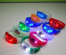 Hot sell Sound Activated LED Wristband Flashing LED Bracelet