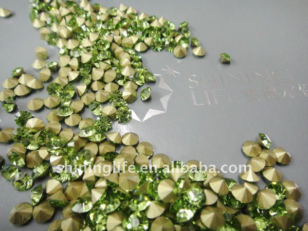 yiwu shining diamond rhinestone pointed back acrylic crystals