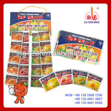 Fruit flavors sachet packing Instant jus juice powder drink