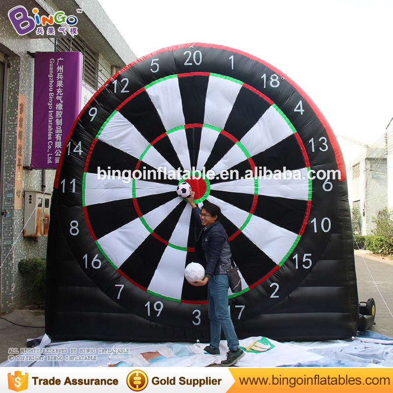 new hot sale velcro soccer darts inflatable soccer dart board velcro dart board game double screen with balls on promotion