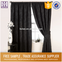 Polyester Waterproof Bathroom ready made curtains for home