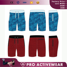 Mens slim fit gym wear bring color basketball sports cycling boxer shorts with strings