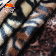 Leopard Faux Fur Fashionable Garment Animal Skin Print Fabric
