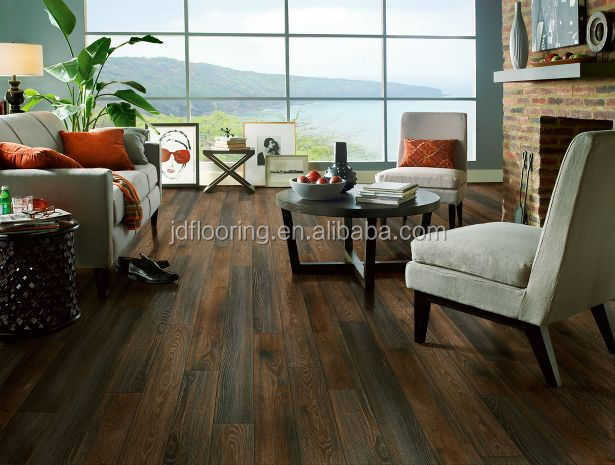 Hand scratched HDF laminate wood flooring