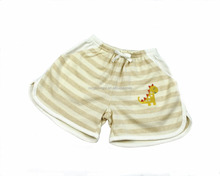 2016 New Design Dinosaur Embroidery Children Shorts Kids Colored Cotton Shorts